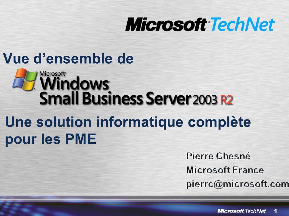 72 Un livre sur SBS en Français 1.Architecture réseau 2.Installation 3.Exemple dinstallation sur ADSL 4.Composants Serveur 5.Exchange 2003 Server 6.Serveur Fax 7.SharePoint Services (Intranet) 8.Windows Update Services 2.0 9.SQL Server (migration vers SQL Server 2005) 10.ISA 2004 Server 11.Trucs et Astuces Disponibilité en librairie « Le monde en tique » http://www.lemet.fr/ Avec Paypal http://sbsfr.mvps.org/livresbs/http://sbsfr.mvps.org/livresbs/ Chapitres supplémentaires gratuits sur http://livresbs.sbsfr.org/