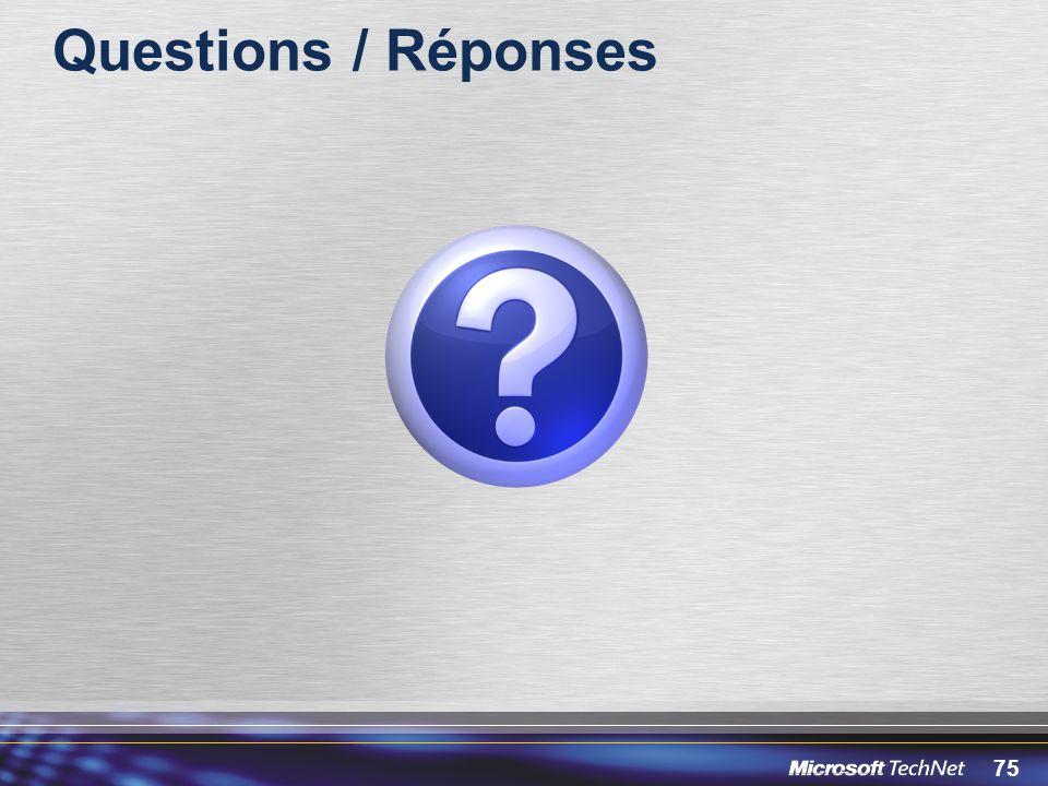 75 Questions / Réponses