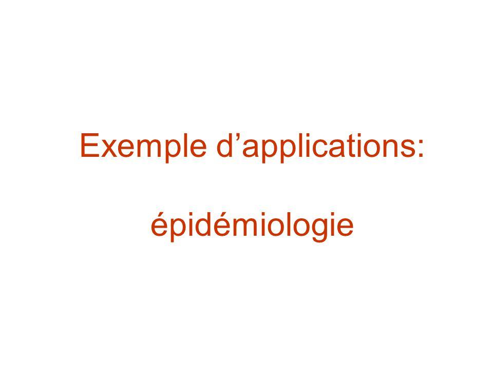 Exemple dapplications: épidémiologie