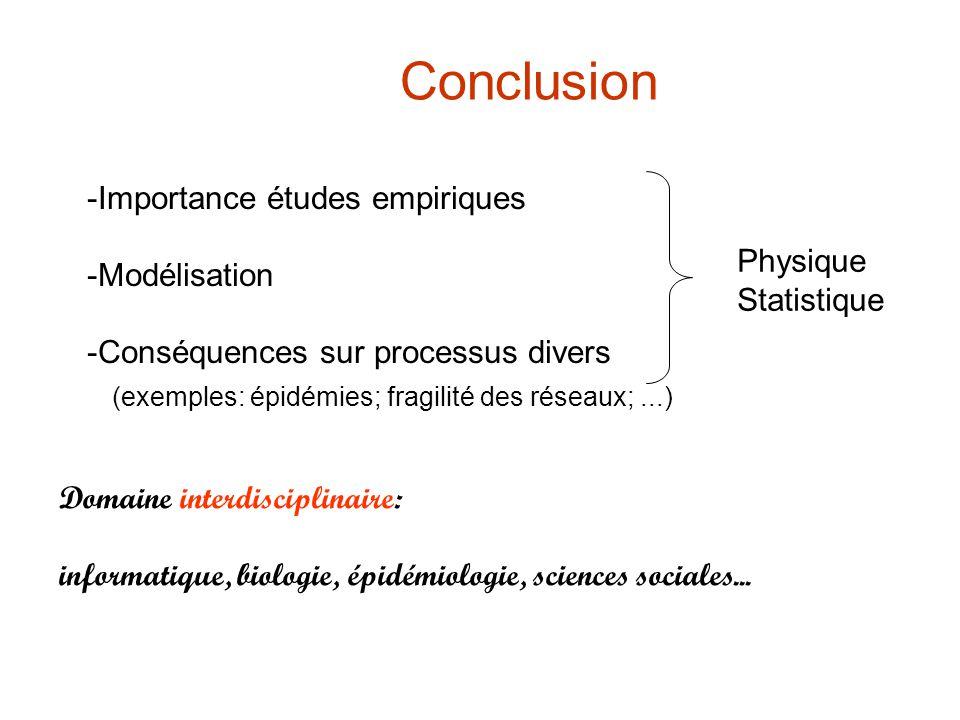 Conclusion Domaine interdisciplinaire: informatique, biologie, épidémiologie, sciences sociales...