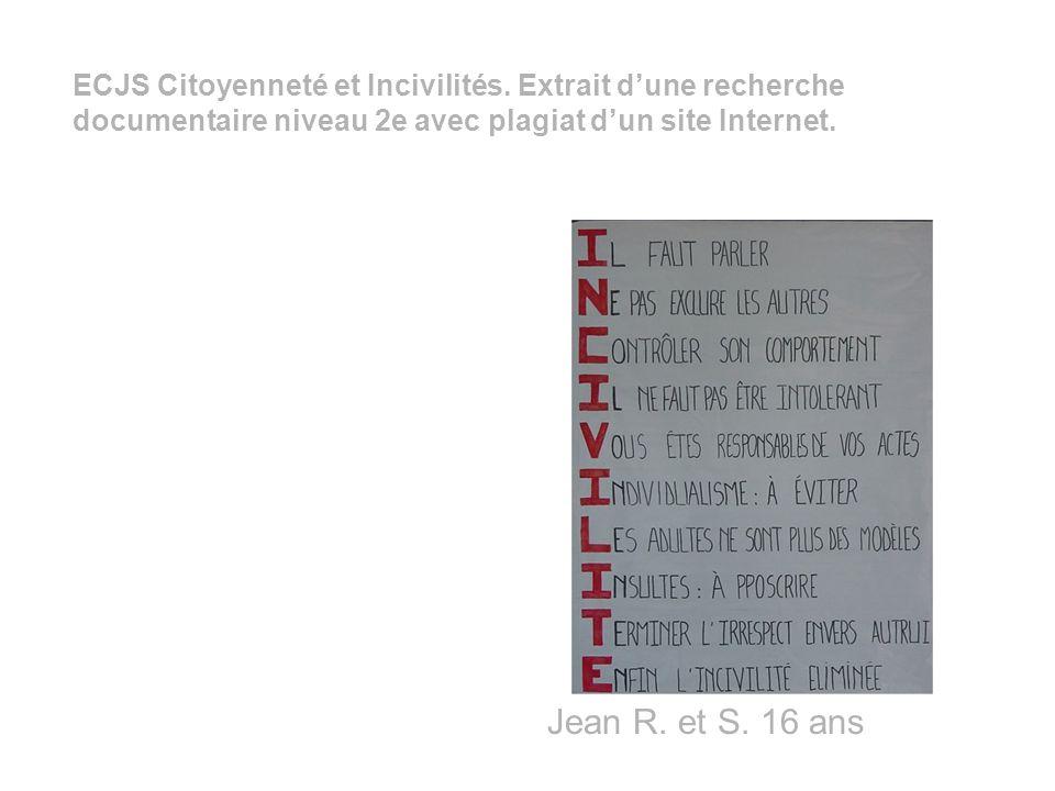 cliquez sur les lettres pour faire apparaître les panneaux réalisés par les élèves de la seconde 4 (mai 2002) Nous, élèves de seconde 4, avons réalisé une enquête sur l incivilité.