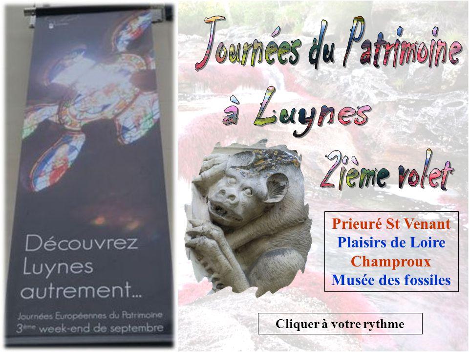 Cliquer à votre rythme Prieuré St Venant Plaisirs de Loire Champroux Musée des fossiles