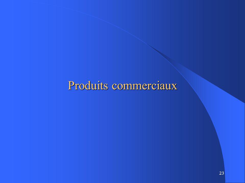 23 Produits commerciaux
