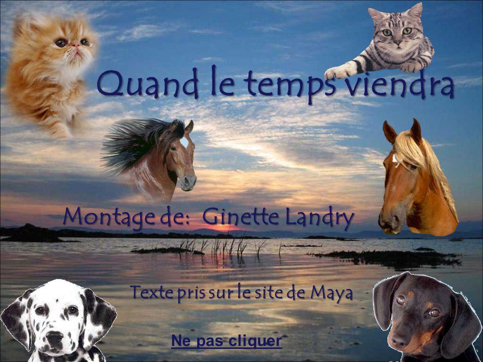 Quand le temps viendra Montage de: Ginette Landry Texte pris sur le site de Maya Ne pas cliquer