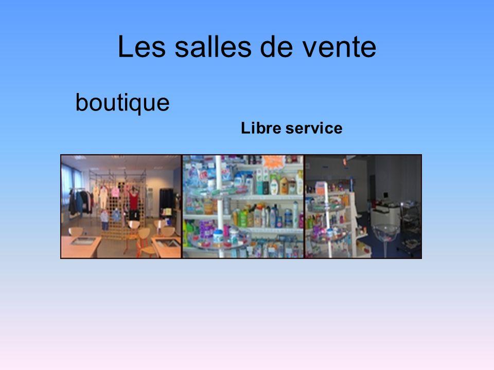 Les salles de vente boutique Libre service