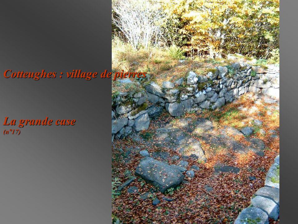 Cotteughes : village de pierres La grande case (n°17)