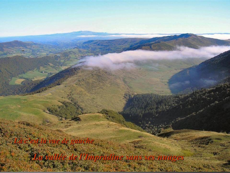 La vallée de lImpradine sans ses nuages Là cest la vue de gauche