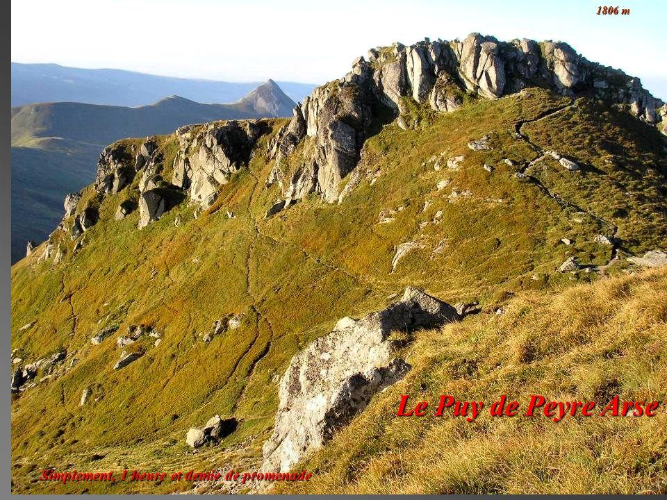Le Puy de Peyre Arse Simplement, 1 heure et demie de promenade 1806 m