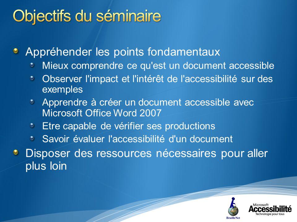 Pour aller plus loin « Raccourcis Clavier du système Office 2007 » http://office.microsoft.com/training/training.aspx?AssetID=RC1 01562731036