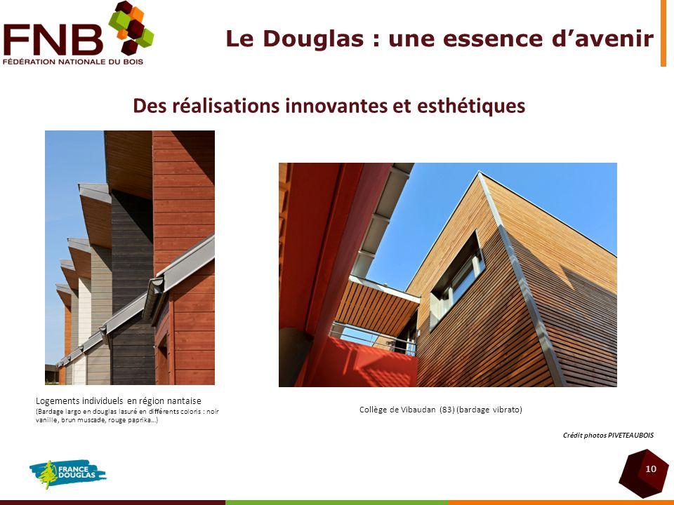 10 Des réalisations innovantes et esthétiques Logements individuels en région nantaise (Bardage largo en douglas lasuré en différents coloris : noir v
