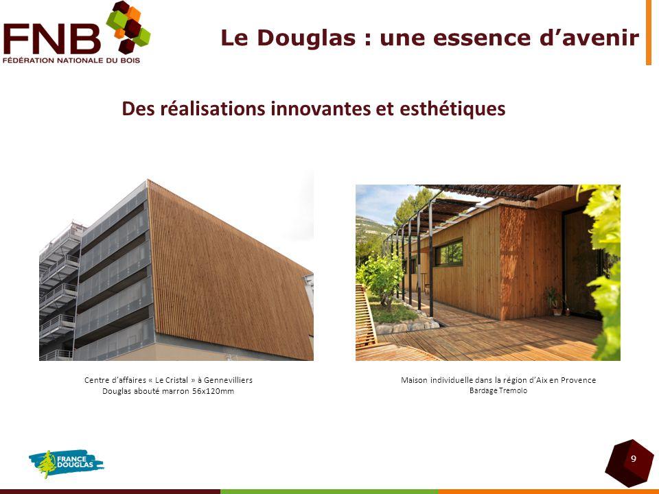 9 Des réalisations innovantes et esthétiques Centre daffaires « Le Cristal » à Gennevilliers Douglas abouté marron 56x120mm Maison individuelle dans l