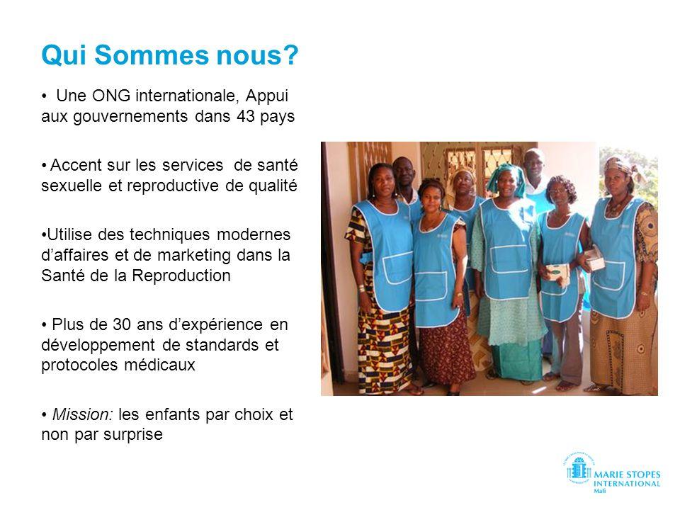 Qui Sommes nous? Une ONG internationale, Appui aux gouvernements dans 43 pays Accent sur les services de santé sexuelle et reproductive de qualité Uti