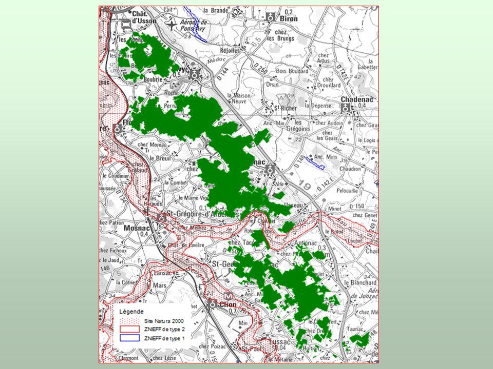 Carte 2 : localisation du massif forestier é tudi é Echelle 1 :70 000 e