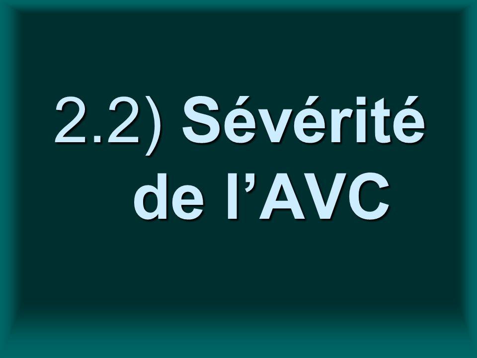 2.2) Sévérité de lAVC