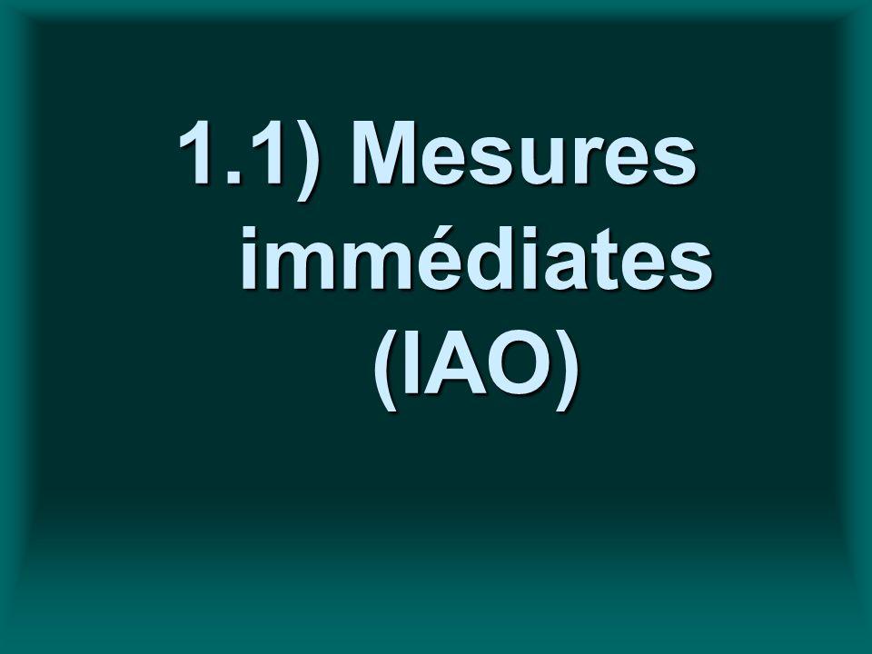 1.1) Mesures immédiates (IAO)