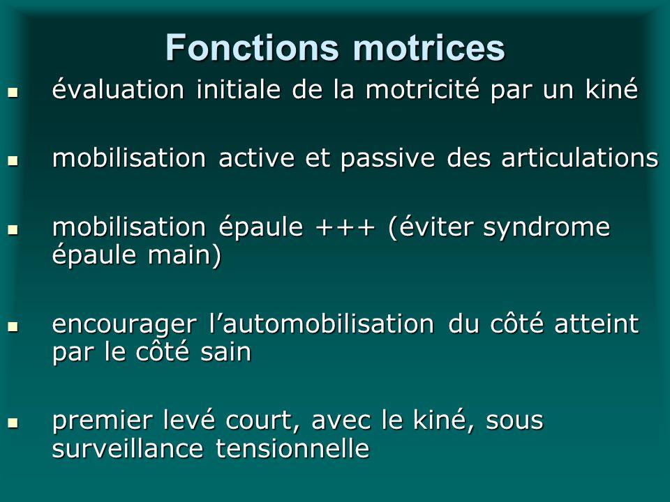 Fonctions motrices évaluation initiale de la motricité par un kiné évaluation initiale de la motricité par un kiné mobilisation active et passive des