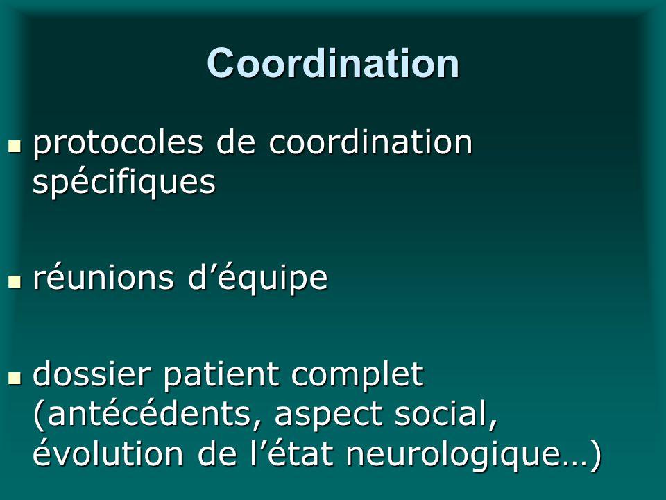Coordination protocoles de coordination spécifiques protocoles de coordination spécifiques réunions déquipe réunions déquipe dossier patient complet (