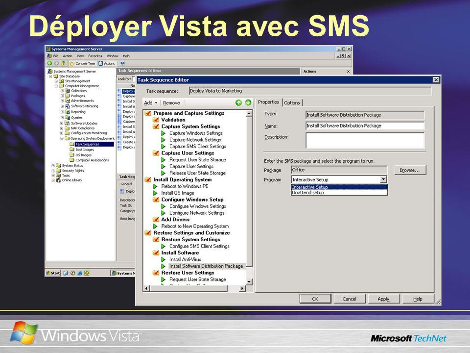 Déployer Vista avec SMS