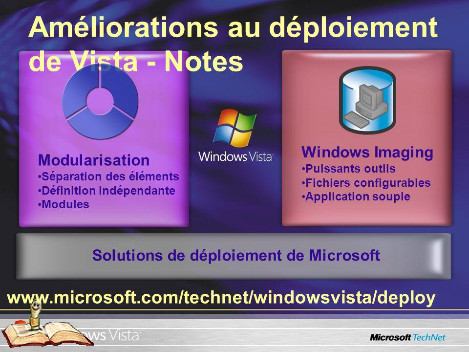 démonstration démonstration Déployer une image Windows Déployer limage de bureau Vista