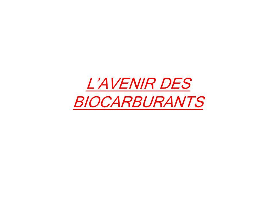 LAVENIR DES BIOCARBURANTS