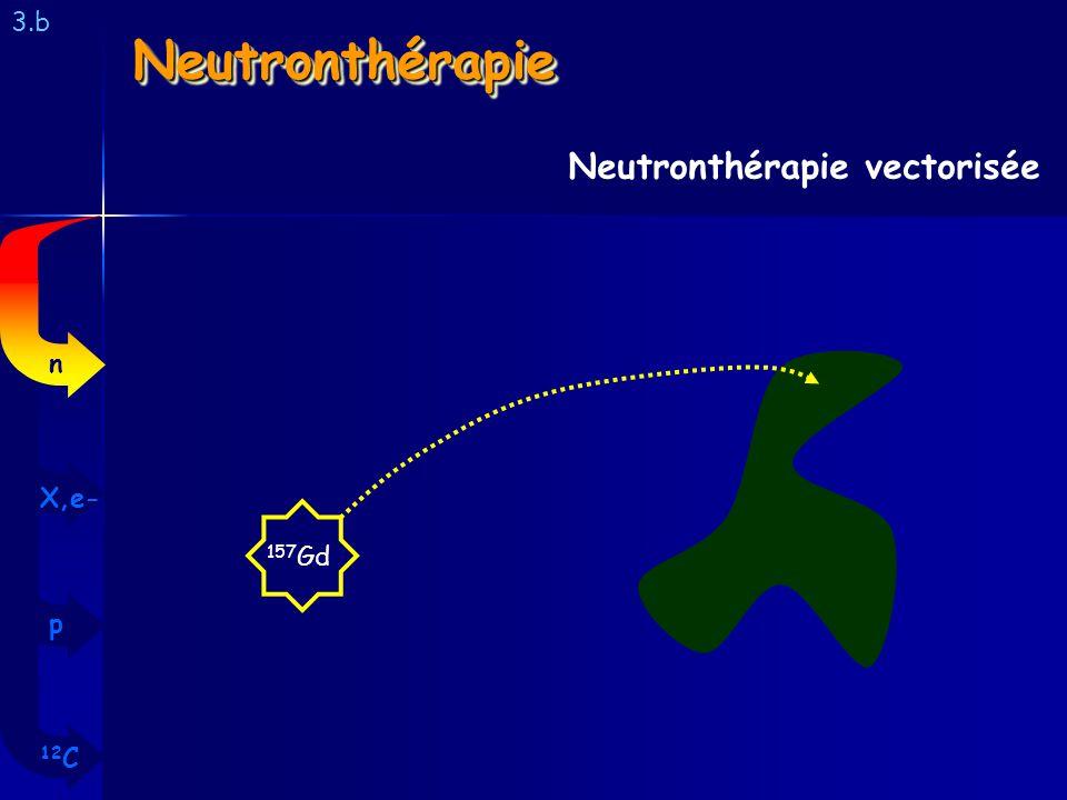 NeutronthérapieNeutronthérapie 3.b Neutronthérapie vectorisée 157 Gd 12 C p X,e- n