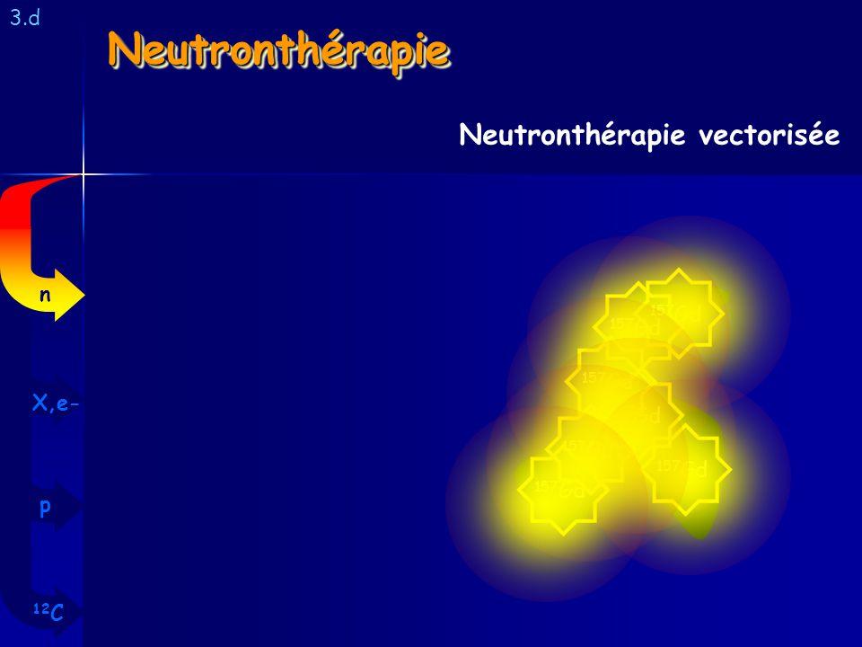 NeutronthérapieNeutronthérapie 3.d Neutronthérapie vectorisée 157 Gd 12 C p X,e- n