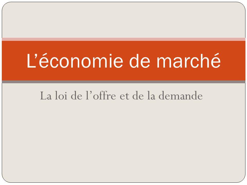 La loi de loffre et de la demande Léconomie de marché
