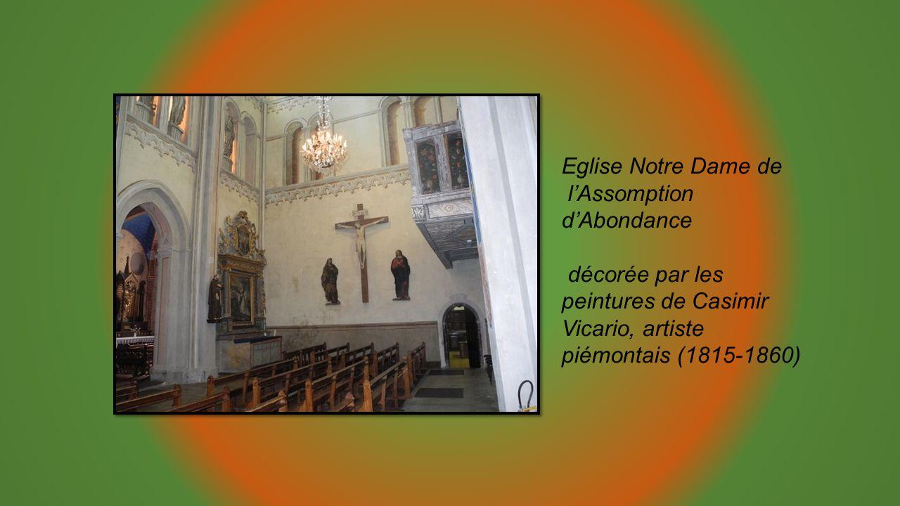 Eglise Notre Dame de lAssomption dAbondance décorée par les peintures de Casimir Vicario, artiste piémontais (1815-1860)
