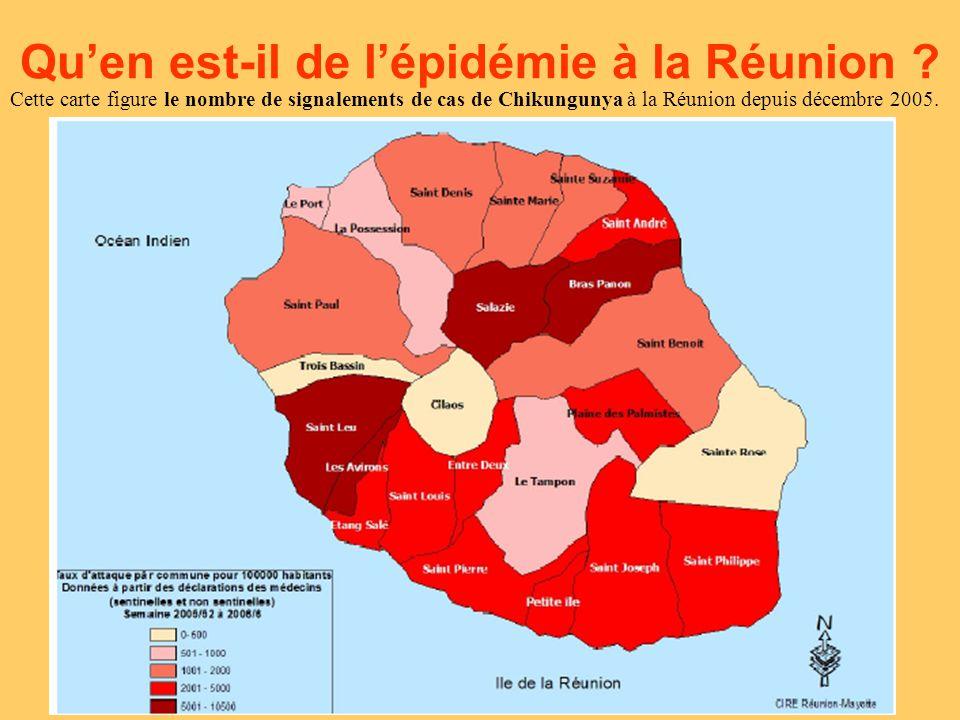 En date de la mi-février 2006, le nombre de personnes atteintes du chikungunya dépasse les 100 000 habitants.