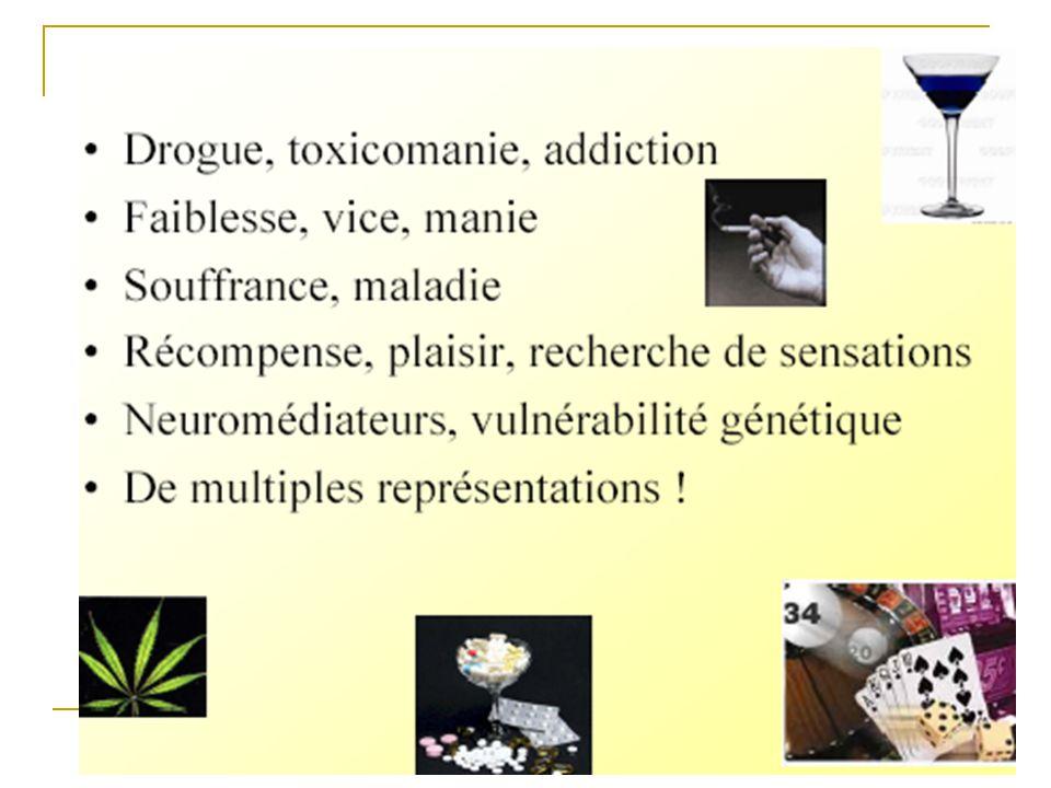 Rapport (Pr Bernard Roques) 17/06/98 1er groupe : –héroïne, opiacés, cocaïne, alcool 2ème groupe : –psychostimulants, hallucinogènes, tabac –benzodiazépines (anxiolytiques et hypnotiques) 3ème groupe : –cannabis