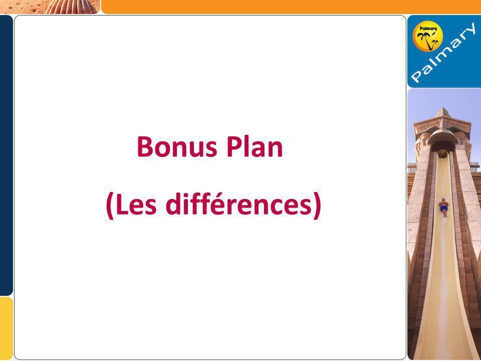 Bonus Plan (Les différences)