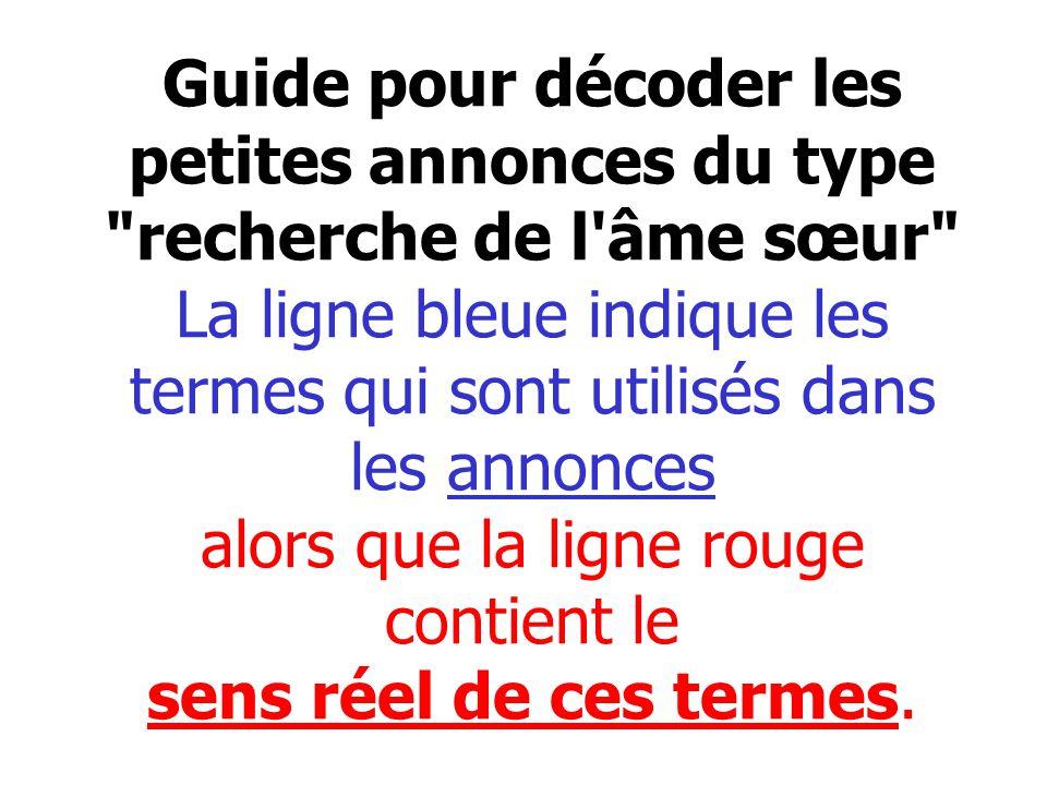 Guide pour décoder les petites annonces du type