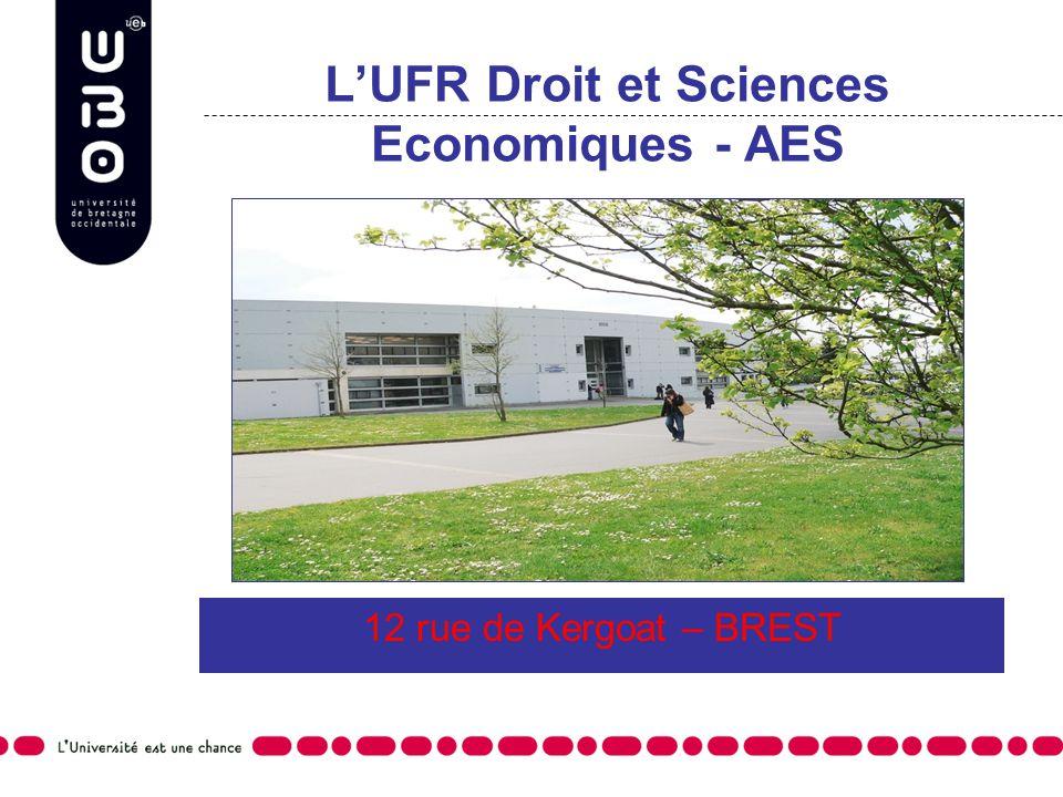 LUFR Droit et Sciences Economiques - AES 12 rue de Kergoat – BREST