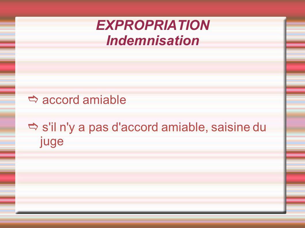 EXPROPRIATION Prise de possession Intervient après paiement ou consignation des indemnités Versées dans un délai de 3 mois