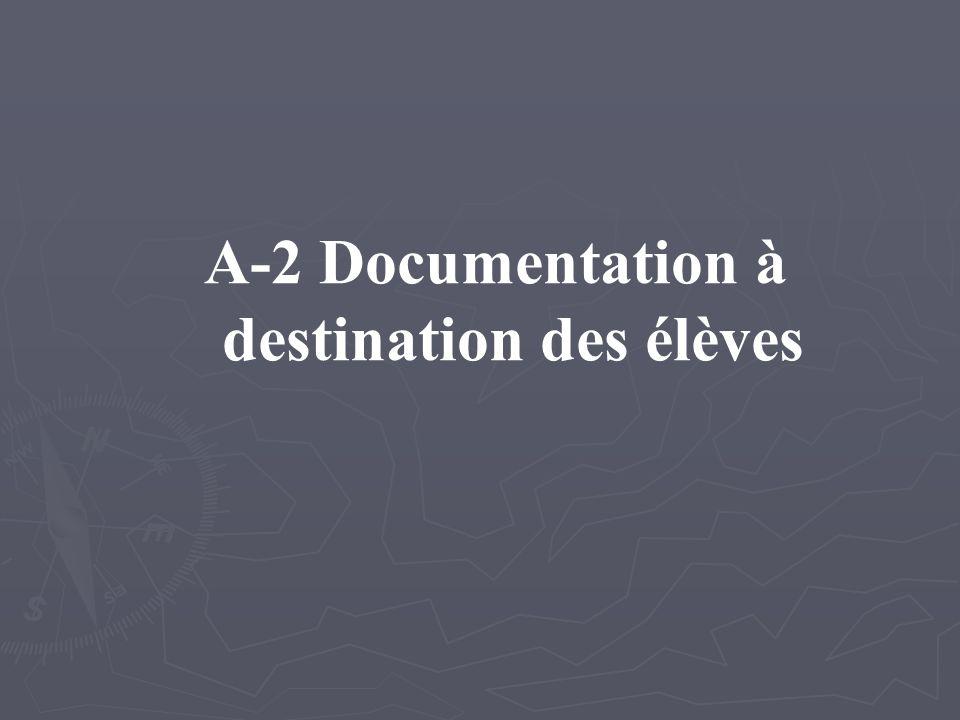 A-2 Documentation à destination des élèves