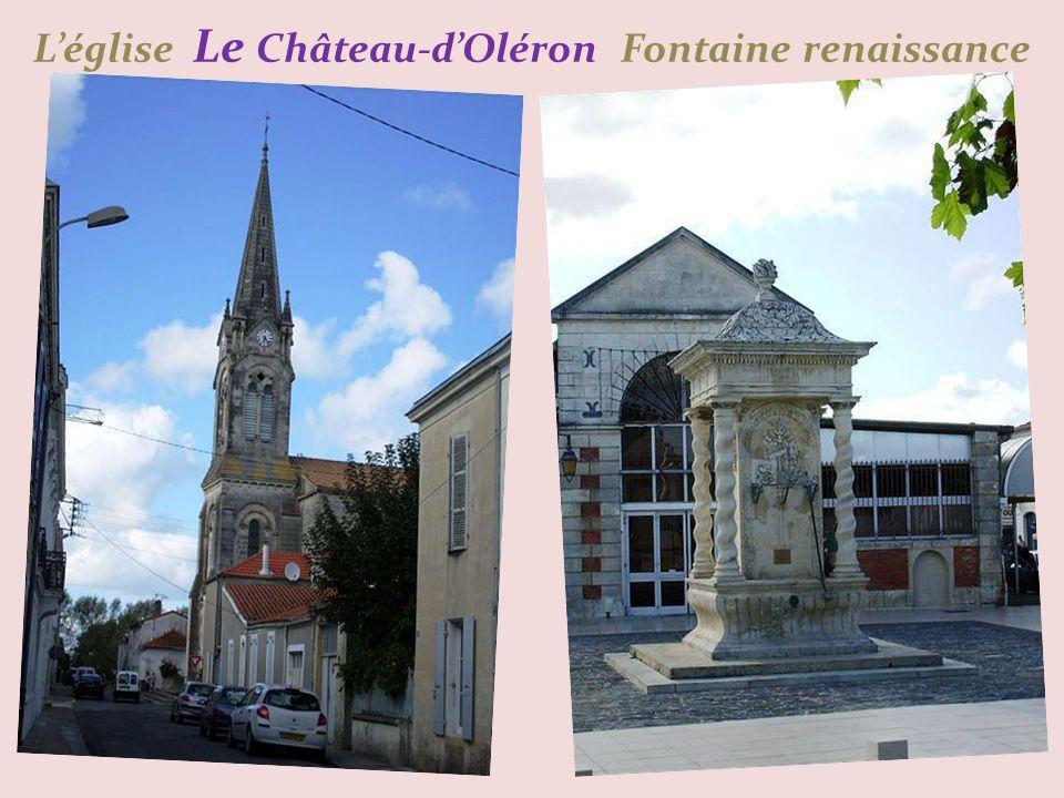 Léglise Le Château-dOléron Fontaine renaissance