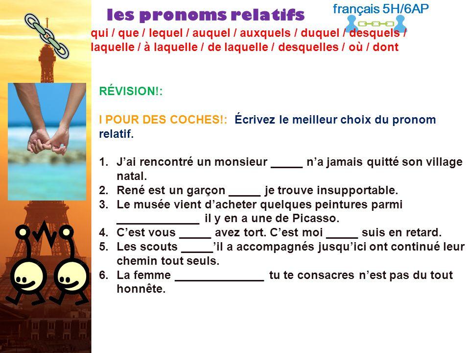 français 6AP le 22-23 mars 2012 ActivitéClasseur Corrections dexamen / Traductions ! Pas dentrée ! PROJET FRANCO-AMERICAIN : Présentation (5 e ) I.La
