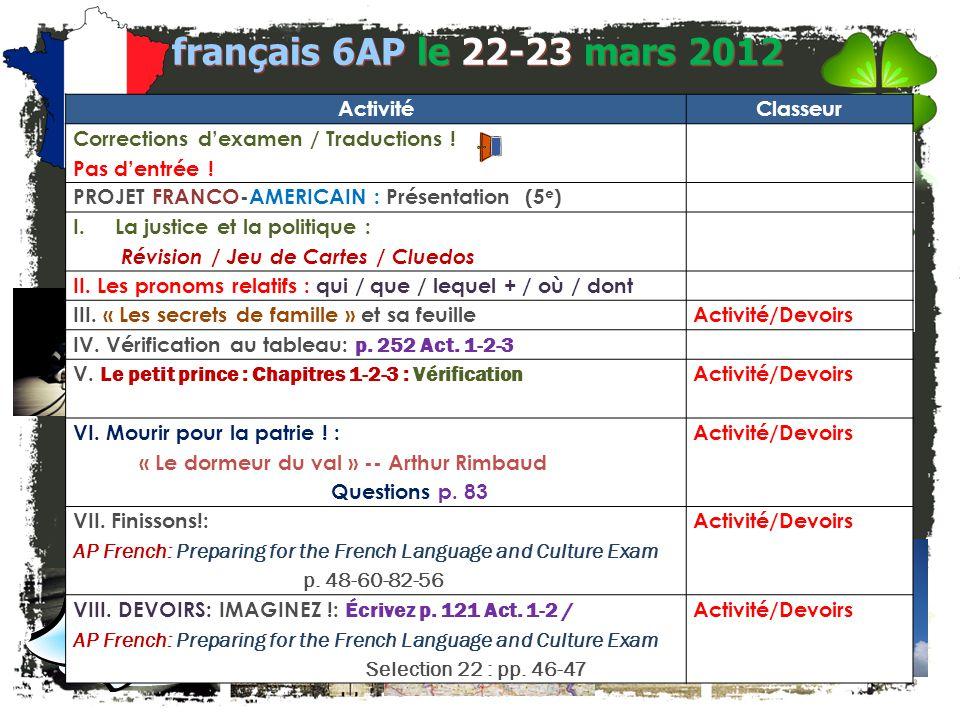 les pronoms relatifs français 5H/6AP I où : Rejoignez les deux phrases en utilisant où.