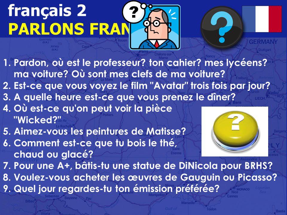 français 2 PARLONS FRANÇAIS.1. Pardon, où est le professeur.