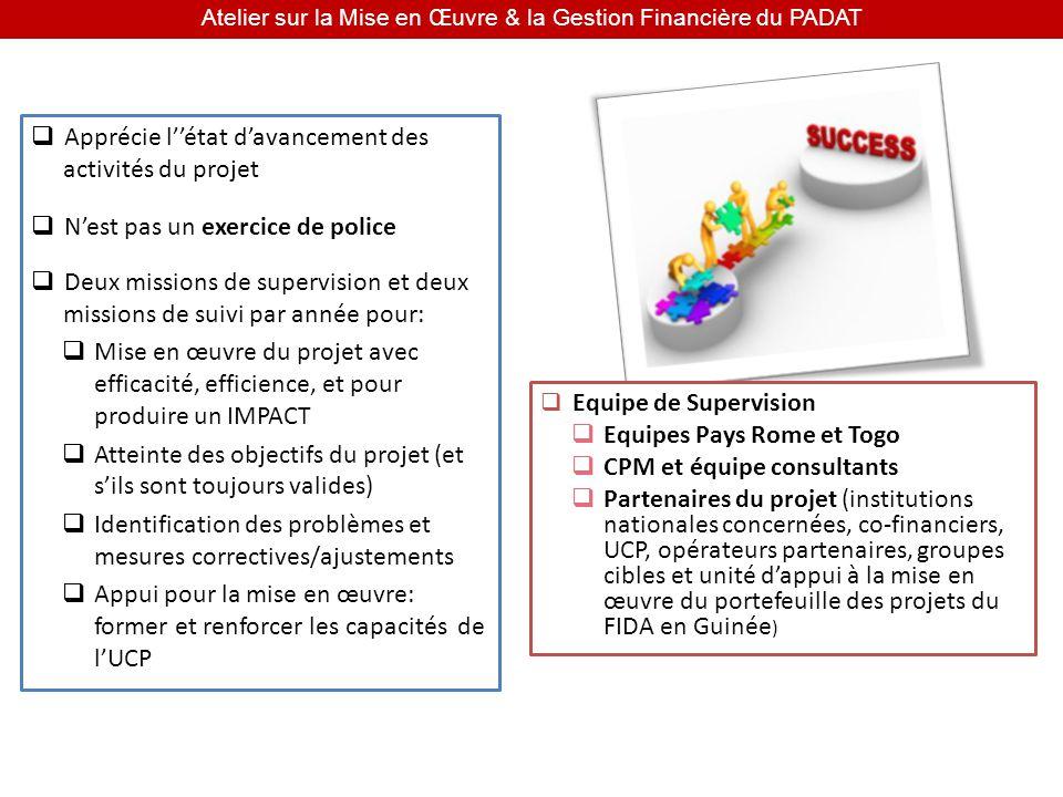 Atelier sur la Mise en Œuvre & la Gestion Financière du PADAT Avant la mission - SE PREPARER A LAVANCE.