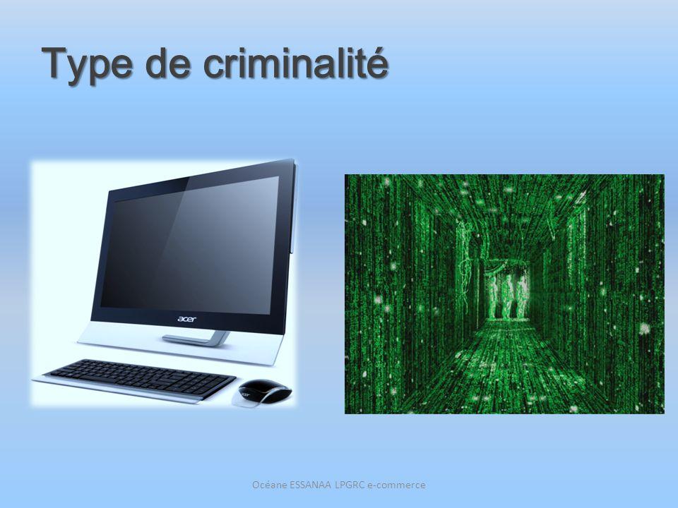 Type de criminalité Océane ESSANAA LPGRC e-commerce
