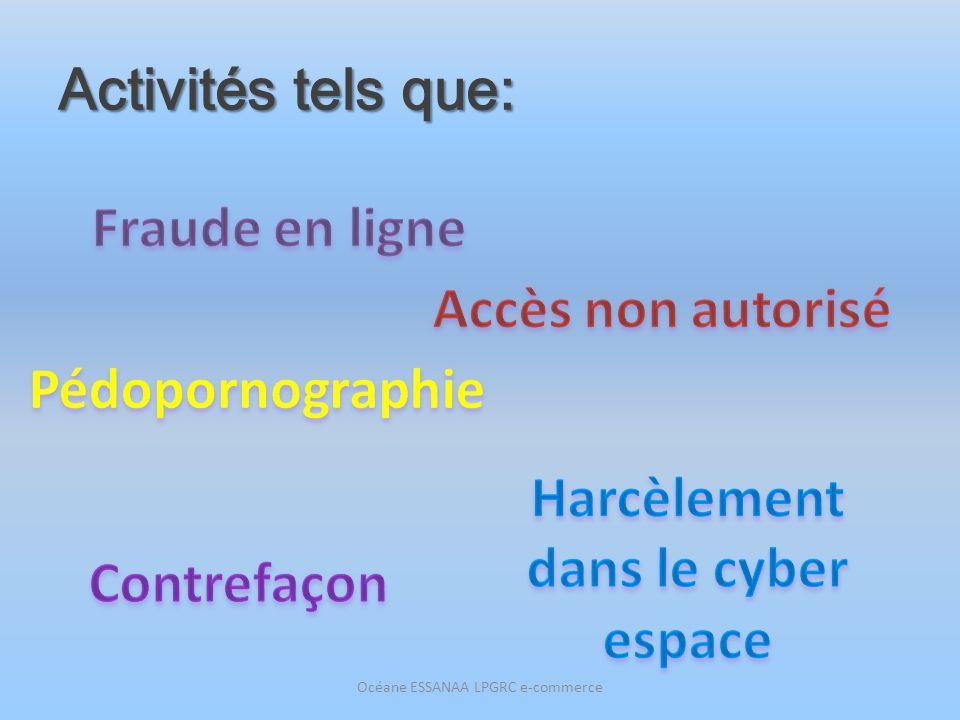 Activités tels que: Océane ESSANAA LPGRC e-commerce