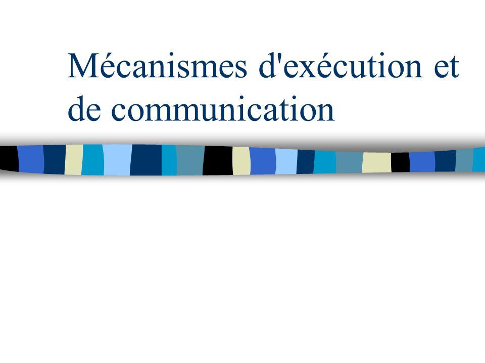 Mécanismes d'exécution et de communication