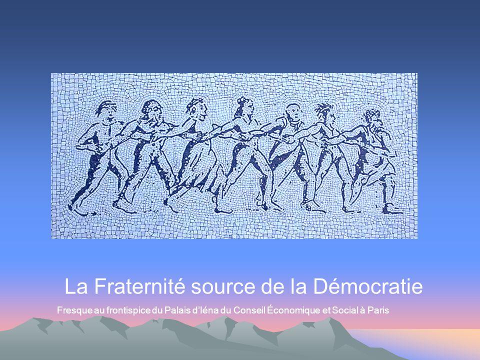 La Fraternité source de la Démocratie Fresque au frontispice du Palais dIéna du Conseil Économique et Social à Paris