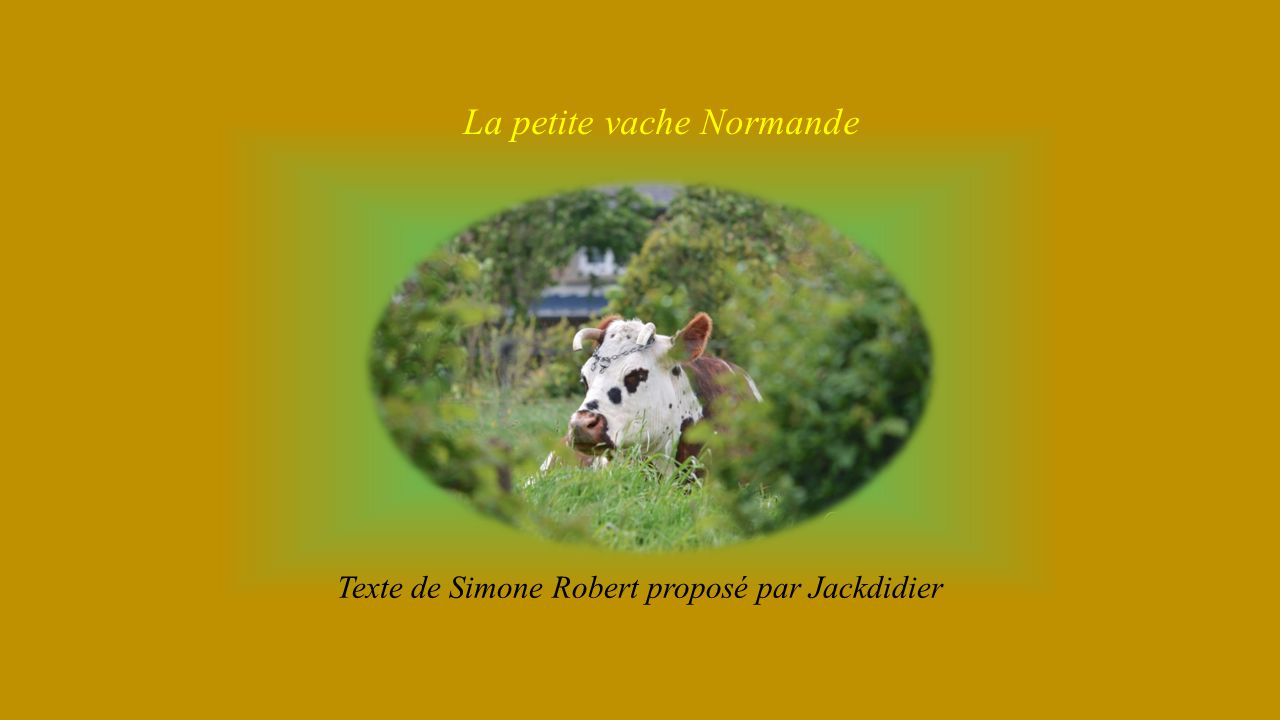 La petite vache Normande Texte de Simone Robert proposé par Jackdidier