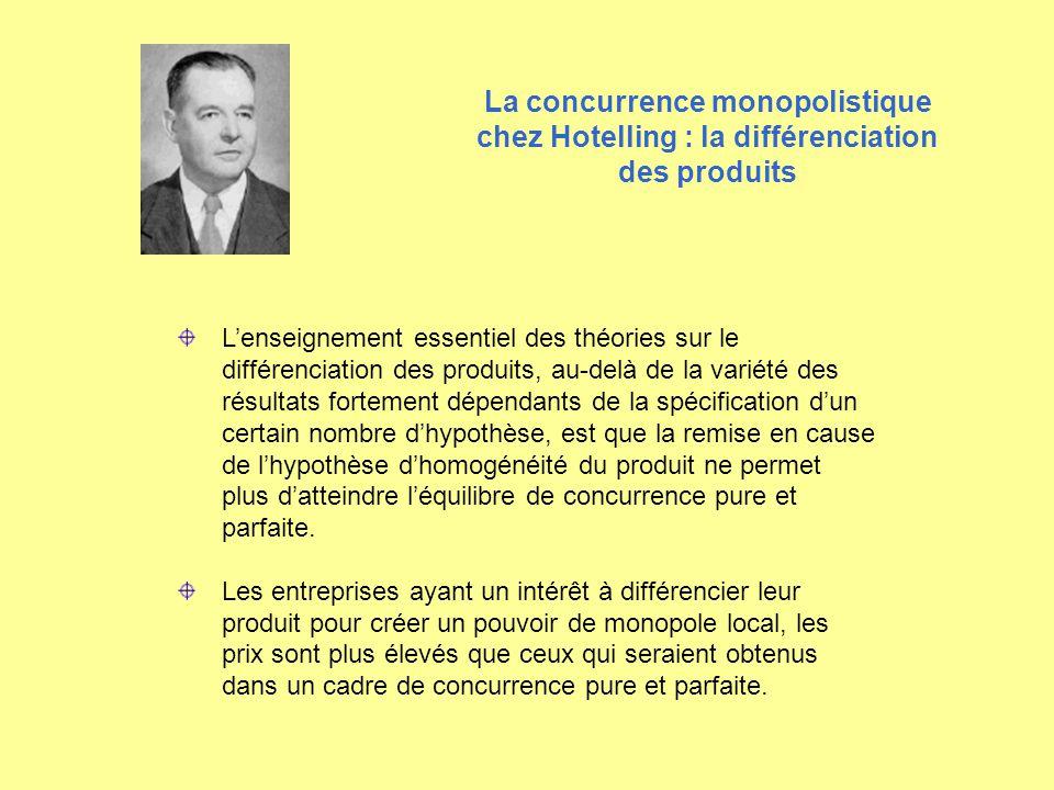 Lenseignement essentiel des théories sur le différenciation des produits, au-delà de la variété des résultats fortement dépendants de la spécification