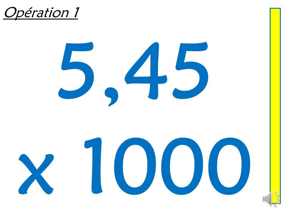 Multiplier un décimal par 10, 100, 1 000 Mathématiques – Calcul mental Entraînement n° 4