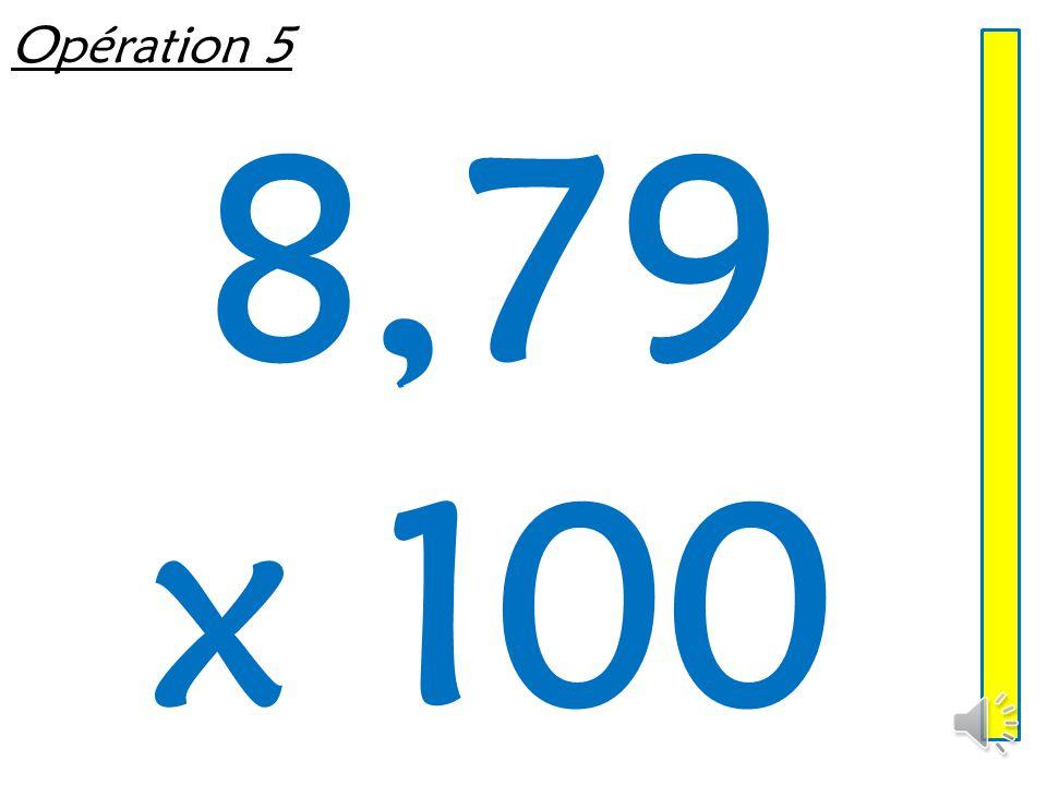 Opération 4 0,15 x 100