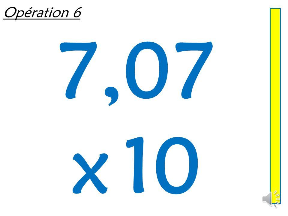 Opération 5 8,79 x 100