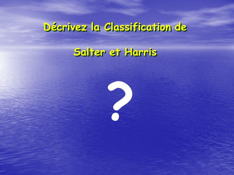 Décrivez la Classification de Salter et Harris ?